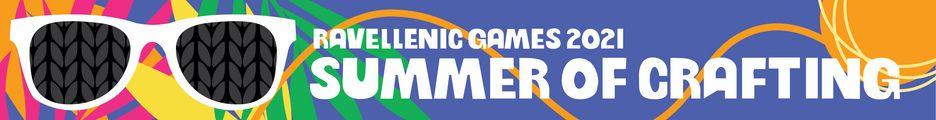 Group banner for the Ravellenic Games, created by Guin Thompson (Raveler octagonfudge)